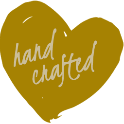 Mustard colored heart-shaped paint shop | Hand Crafted